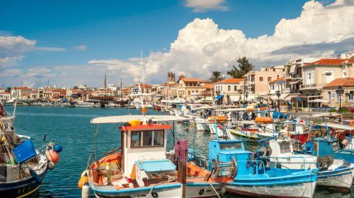 Port in Aegina